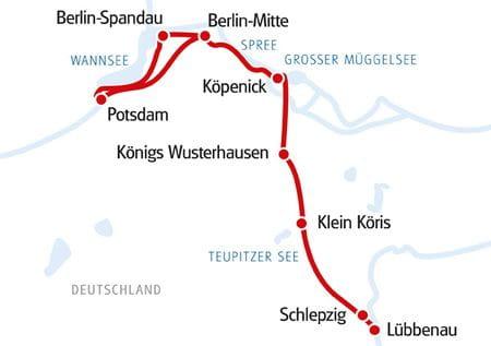 Karte MS MARYLOU Spreewald