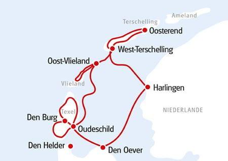 Karte Holländische Inseln 2021