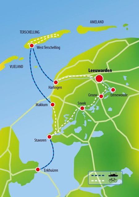 Karte MS LENA MARIA, Friesland