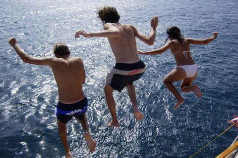 Sprung ins Meer