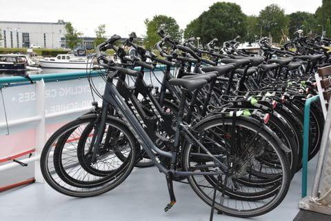Fahrräder auf der MS FLORA