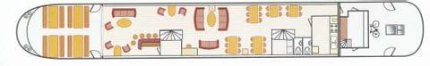 Deckplan Hauptdeck, MS MARYLOU