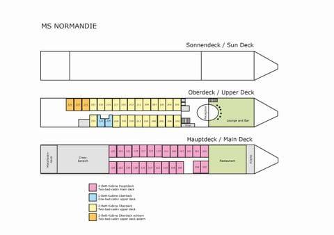 Cabin plan, MS NORMANDIE