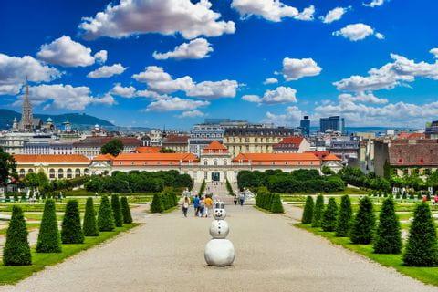 Blick auf Schloss Belvedere