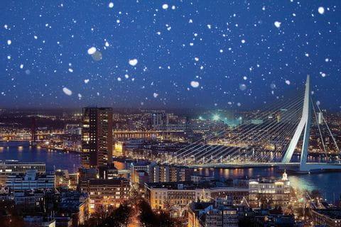Schneefall in Rotterdam