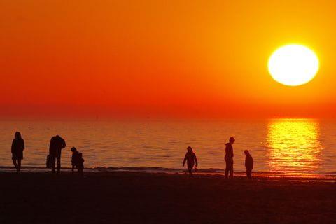 Sunset, Dutch west coast