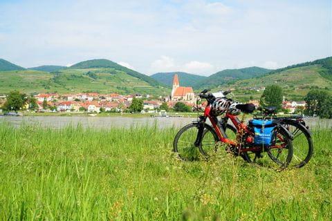 Bikes in front of the Danube