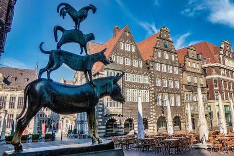 Bremer Stadtmusikanten in der Altstadt