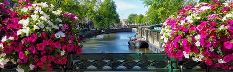 Malerischer Kanal in Amsterdam