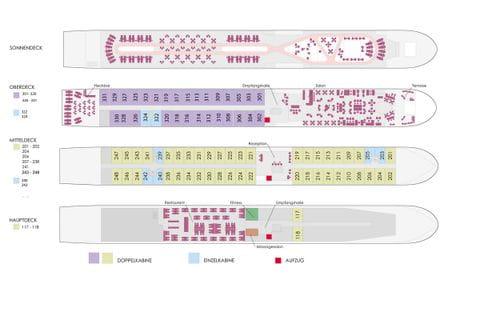 Deck Plan MS ALBERTINA as of November 2021